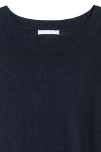 Knitted wool-blend jumper - Dark blue - Ladies | H&M IE 3