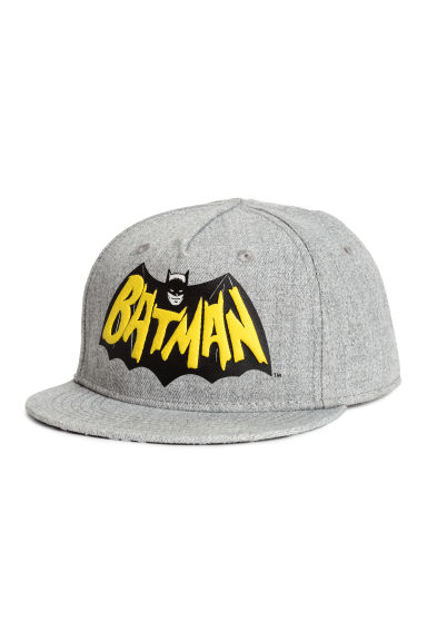 Cap with appliqué - Grey/Batman - Kids | H&M CA 1