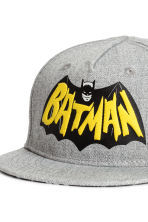 Cap with appliqué - Grey/Batman - Kids | H&M CA 3