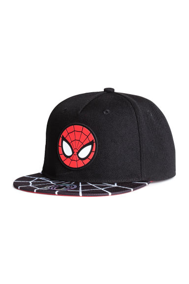 Cap with appliqué - Black/Spiderman -  | H&M 1