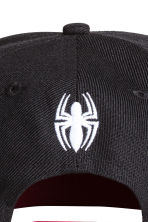 Cap with appliqué - Black/Spiderman - Kids | H&M 3