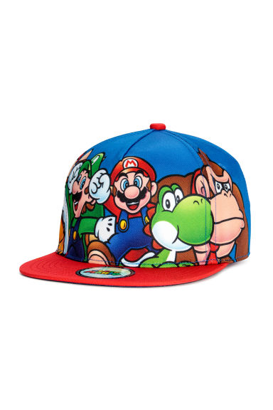 Cap with appliqué - Blue/Super Mario - Kids | H&M