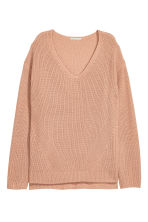 Double-knitted jumper - Beige - Ladies | H&M CN 2