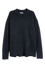Mohair-blend jumper - Dark blue/Glitter - Ladies | H&M CN 2