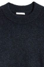 Mohair-blend jumper - Dark blue/Glitter - Ladies | H&M CN 3