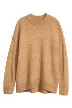 Mohair-blend jumper - Camel - Ladies | H&M CN 2