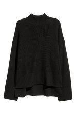 Knitted wool-blend jumper - Black - Ladies | H&M CN 2