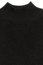Knitted wool-blend jumper - Black - Ladies | H&M CN 3