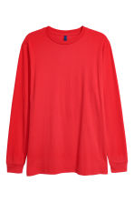 Long-sleeved top - Red - Men | H&M 2