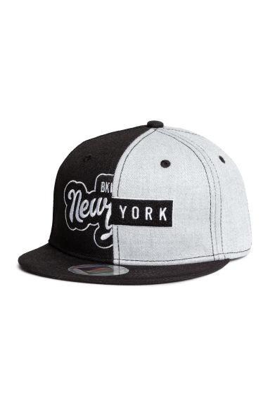Cap with appliqués - Black/New York -  | H&M