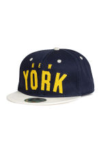 Cap with appliqués - Dark Blue/New York - Kids | H&M CA 1