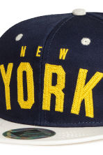 Cap with appliqués - Dark Blue/New York - Kids | H&M CA 3