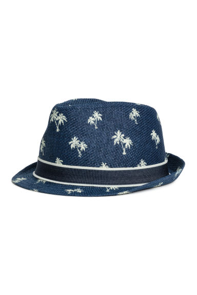 Straw hat - Dark blue/Palms - Kids | H&M 1