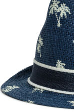 Straw hat - Dark blue/Palms - Kids | H&M 3