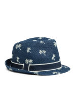 Straw hat - Dark blue/Palms - Kids | H&M 2