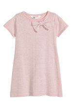 Fine-knit dress - Light pink/Glittery -  | H&M CN 2