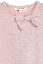 Fine-knit dress - Light pink/Glittery -  | H&M CN 3