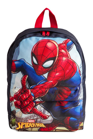Printed backpack - Dark blue/Spider-Man - Kids | H&M 1
