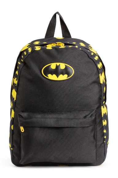 Printed backpack - Black/Batman -  | H&M CN 1