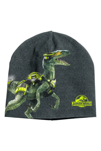 Printed jersey hat - Dark grey/Jurassic World -  | H&M 1