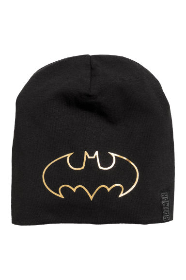 Printed Jersey Hat - Black/Batman - Kids | H&M CA 1