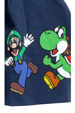 Berretto in jersey con stampa - Blu scuro/Super Mario - BAMBINO | H&M IT 2