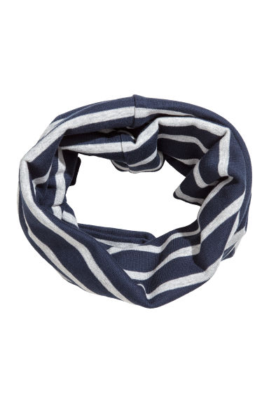 Jersey tube scarf - Dark blue/Striped - Kids | H&M 1