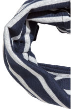 Jersey tube scarf - Dark blue/Striped - Kids | H&M 2