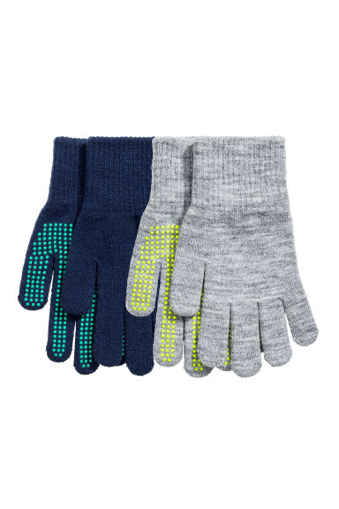 2-pack gloves - Dark blue/Grey - Kids | H&M