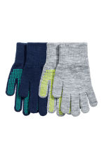 2-pack gloves - Dark blue/Grey -  | H&M CN 1