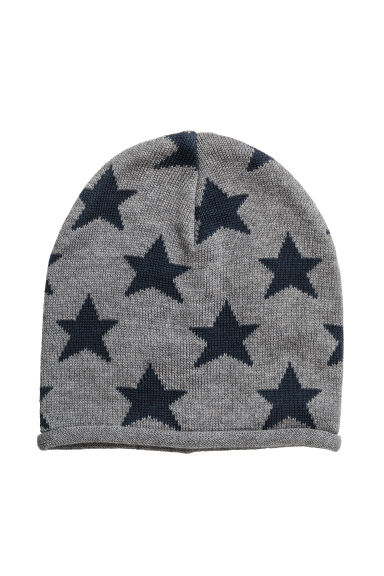 Cotton-blend hats - Dark grey/Stars - Kids | H&M 1