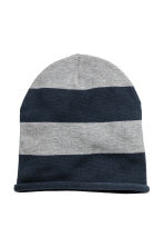 Cotton-blend hats - Dark blue/Striped -  | H&M CN 1