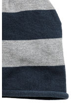 Cotton-blend hats - Dark blue/Striped -  | H&M CN 2
