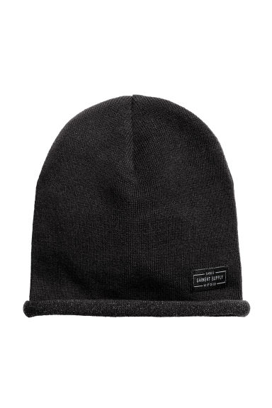 Cotton-blend hats - Black - Kids | H&M 1