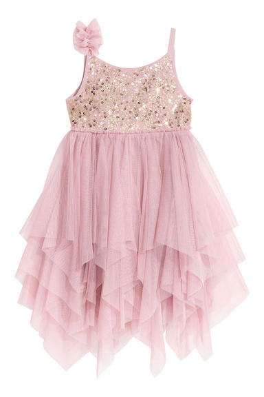 Abito in tulle con paillettes - Rosa antico -  | H&M IT