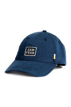 Cotton cap - Dark blue -  | H&M 1