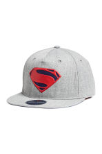 Cap with an appliqué - Grey/Superman - Kids | H&M CN 1