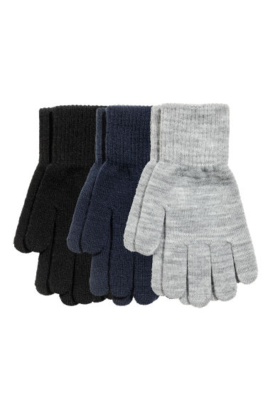 3 pairs gloves - Black/Multicolored - Kids | H&M CN