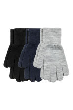 3 pairs gloves - Black/Multicolored - Kids | H&M CN 1