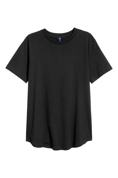 Cotton T-shirt - Black - Men | H&M CN