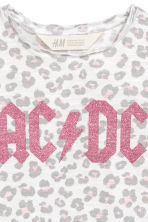 T-shirt with Printed Design - White/AC/DC -  | H&M CA 3