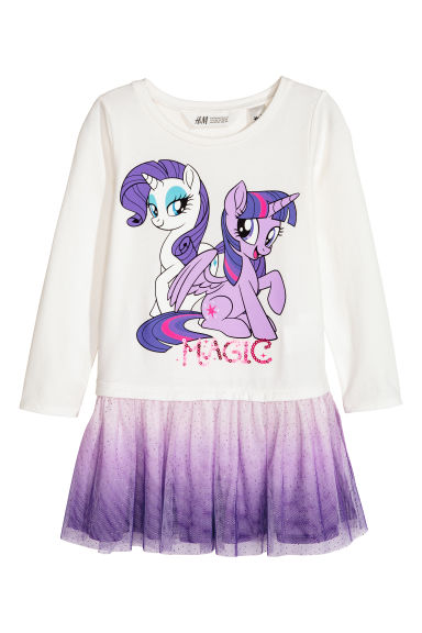Dress with a tulle skirt - Purple/My Little Pony - Kids | H&M 1