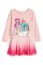 薄纱裙摆连衣裙 - Light pink/My Little Pony -  | H&M CN 1