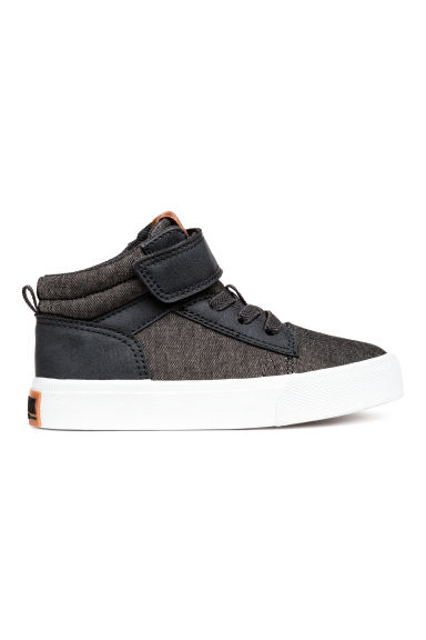 Hi-top trainers - Dark grey marl - Kids | H&M