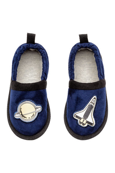 Soft slippers - Dark blue/Space - Kids | H&M 1