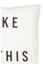 Text-print pillowcase - White -  | H&M GB 2