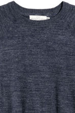 Fine-knit cotton jumper - Dark blue marl - Men | H&M 3