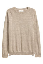Fine-knit cotton jumper - Beige marl - Men | H&M 2