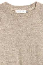 Fine-knit cotton jumper - Beige marl - Men | H&M 3