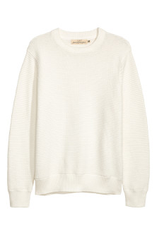 Rib-knit Cotton Sweater
